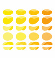 Set of potato chips Golden Orange and yellow wavy vector image vector image