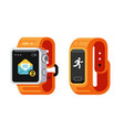 smart watch and fitness gadget vector image vector image