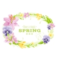 Spring white background Easter Mothers day vector image vector image