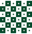 Star Green White Chess Board Background vector image vector image