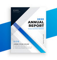 stylish blue annual report business brochure vector image vector image