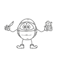 surgery emoticon sketch vector image