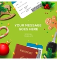 Travel blog concept holiday blogging online vector image vector image