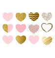 valentine day set hearts vector image vector image