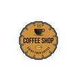 vintage coffee shop coffee cup logo inspiration vector image vector image