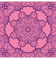 Violet flower mandala like design Vinatge element vector image vector image