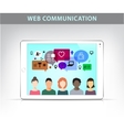 web communication social net vector image
