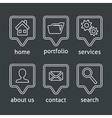 White website menu icons vector image vector image