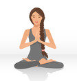 yoga lotus position vector image vector image