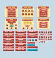 game simple flat gui pack vector image