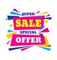 Super sale special offer creative banner vector image