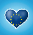 Heart shape flag of EU vector image