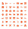 49 commercial icons vector image vector image