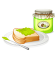 A sandwich with a jam vector image vector image