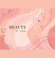 abstract universal beauty template fashion vector image vector image