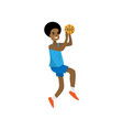 african basketball player try to jump to high vector image vector image