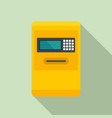 airport atm machine icon flat style