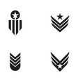 army military icon vector image