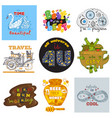 badge logotype or emblem sign with monsters vector image