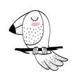 bird animal drawing vector image vector image