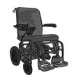 black and white electric wheelchair vector image