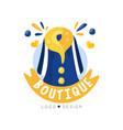 boutique logo design fashion clothes shop beauty vector image vector image