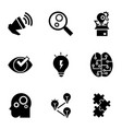 brainstorming icon set simple style vector image