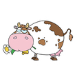 Cartoon Character Cow Different Color White vector image vector image