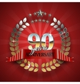 Celebrative Golden Frame for 90th Anniversary vector image vector image