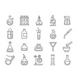chemistry or science research laboratory equipment vector image