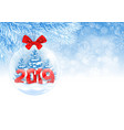 christmas and new year ball vector image vector image