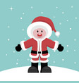 christmas card of santa claus child under snow vector image