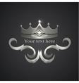 decorative shiny banner crown logo vector image vector image