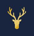 deer antlers gold texture vector image