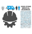 development icon with 1000 medical business vector image vector image