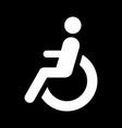 disabled wheelchair icon vector image vector image