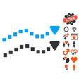 dotted trend lines icon with lovely bonus vector image vector image
