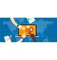 ecs enterprise collaboration system vector image vector image
