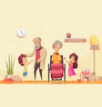 elderly people family help vector image