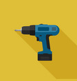 electric screwdriver flat icon vector image vector image