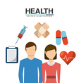 family health care design vector image vector image