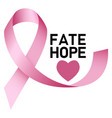 fate hope breast cancer logo realistic style vector image vector image