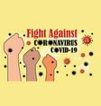 fight againts coronavirus in world vector image vector image