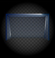 football gates on transparent background vector image