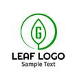 g leaf logo symbol icon sign vector image