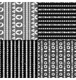 geometric monochrome seamless pattern set vector image vector image
