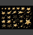 gold star with metal gradient isolated on white vector image