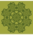 Green mandala vector image vector image