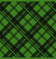 green tartan fabric texture in a square pattern vector image vector image
