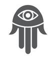 hamsa hand glyph icon religion and arabic fatima vector image